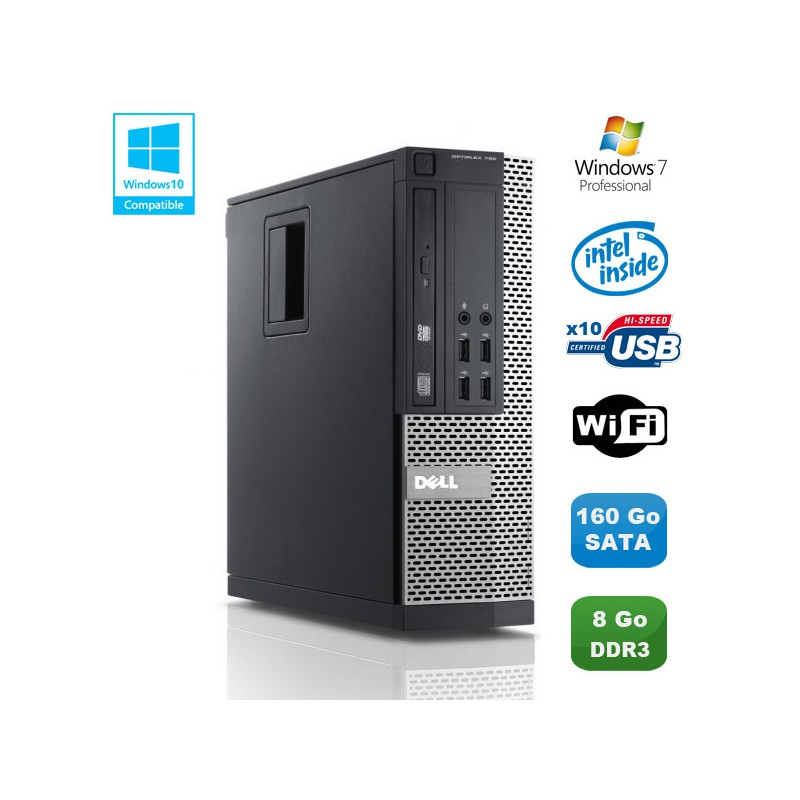 4233 Pc Dell Optiplex 790 Sff Intel Pentium G840 28ghz 8go Ddr3 160go Wifi Win 7 Pro 3700857039570 on dell optiplex 790 usb ports