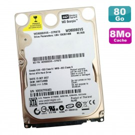 "Disque Dur 80Go SATA 2.5"" WESTERN DIGITAL Scorpio WD800BEVS-07RST0 PC Portable"