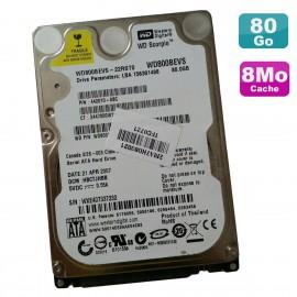 "Disque Dur 80Go SATA 2.5"" WD Scorpio WD800BEVS-22RST0 442010-ABC PC Portable"