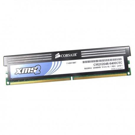 2Go RAM PC Bureau Corsair CM2X2048-6400C5C DDR2 PC2-6400U 800Mhz 1 8v CL5 -  MonsieurCyberMan