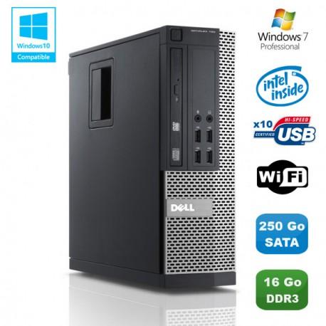 PC DELL Optiplex 790 SFF Intel Pentium G840 2.8Ghz 16Go DDR3 250Go WIFI Win 7 Pro