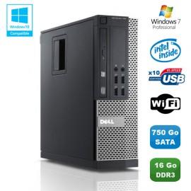 PC DELL Optiplex 790 SFF Intel G840 2.8Ghz 16Go DDR3 750Go WIFI Win 7 Pro