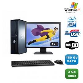 "Lot PC DELL Optiplex 380 DT Core 2 Duo E7500 2,92Ghz 2Go DDR3 160Go Xp Pro +17"""