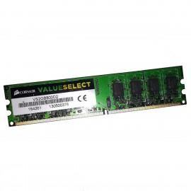 2Go RAM Corsair VS2GB800D2 DDR2 PC2-6400U 800Mhz 240-Pin 1.8v CL5 PC Bureau