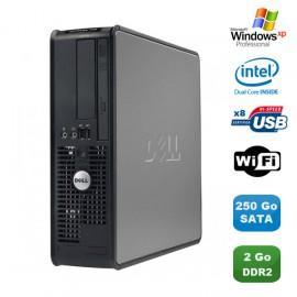 PC DELL Optiplex 760 SFF Pentium Dual Core E5200 2.5Ghz 2Go 250Go WIFI XP Pro