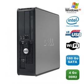 PC DELL Optiplex 760 SFF Pentium Dual Core E5200 2.5Ghz 4Go 160Go WIFI XP Pro