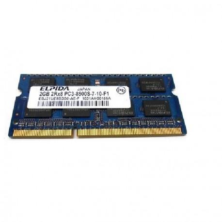 2Go RAM PC Portable SODIMM Elpida EBJ21UE8BDS0-AE-F DDR3 PC3-8500S 1066MHz CL7