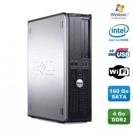 PC DELL Optiplex 360 DT Intel Dual Core E5200 2.5GHz 4Go DDR2 WIFI 160Go W7 Pro