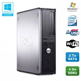 PC DELL Optiplex 330 DT Intel Core 2 Duo E4300 1.8GHz 4Go DDR2 WIFI 2To W7 Pro