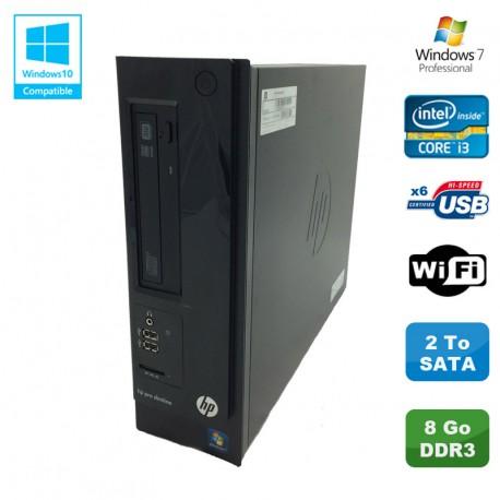 PC HP Pro 3300 Series SFF Intel core i3-2120 3.3Ghz 8Go DDR3 2To WIFI Win 7 Pro