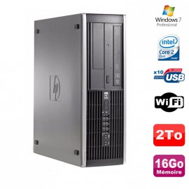 PC HP Compaq 8000 Elite SFF Core 2 Duo E8400 3Ghz 16Go DDR3 2To Win 7 Pro