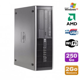 PC HP Compaq 6005 Pro SFF AMD 3GHz 2Go DDR3 250Go SATA Graveur WIFI Windows Xp