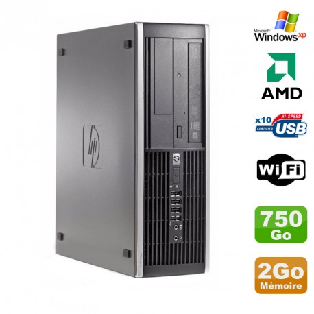 PC HP Compaq 6005 Pro SFF AMD 3GHz 2Go DDR3 750Go SATA Graveur WIFI Windows Xp