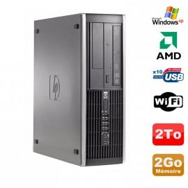 PC HP Compaq 6005 Pro SFF AMD 3GHz 2Go DDR3 2To SATA Graveur WIFI Windows Xp