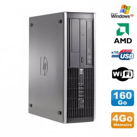 PC HP Compaq 6005 Pro SFF AMD 3GHz 4Go DDR3 160Go SATA Graveur WIFI Windows Xp