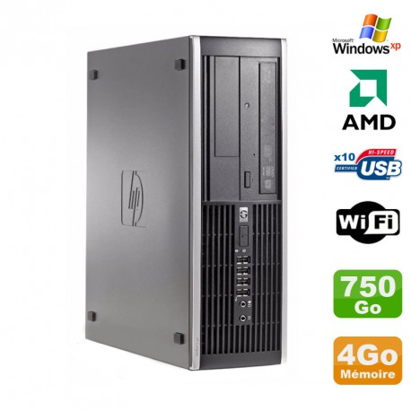 PC HP Compaq 6005 Pro SFF AMD 3GHz 4Go DDR3 750Go SATA Graveur WIFI Windows Xp