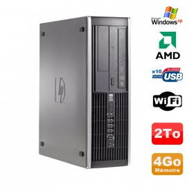 PC HP Compaq 6005 Pro SFF AMD 3GHz 4Go DDR3 2To SATA Graveur WIFI Windows Xp