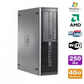 PC HP Compaq 6005 Pro SFF AMD 3GHz 4Go DDR3 250Go SATA Graveur WIFI Win 7 Pro
