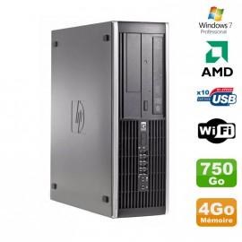 PC HP Compaq 6005 Pro SFF AMD 3GHz 4Go DDR3 750Go SATA Graveur WIFI Win 7 Pro