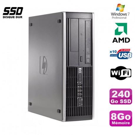 PC HP Compaq 6005 Pro SFF AMD 3GHz 8Go DDR3 240Go SSD Graveur WIFI Win 7 Pro