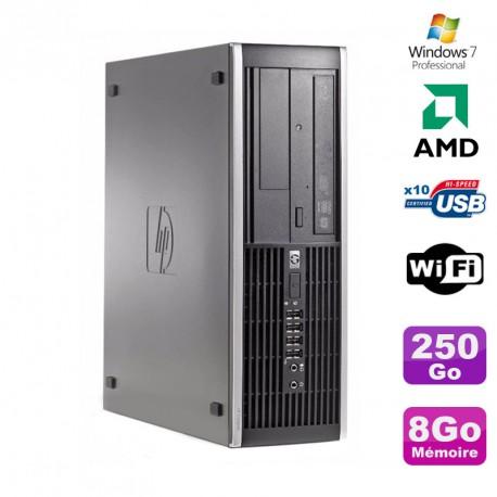 PC HP Compaq 6005 Pro SFF AMD 3GHz 8Go DDR3 250Go SATA Graveur WIFI Win 7 Pro
