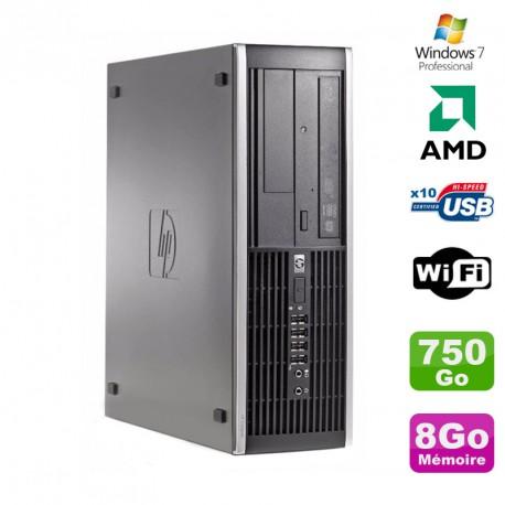 PC HP Compaq 6005 Pro SFF AMD 3GHz 8Go DDR3 750Go SATA Graveur WIFI Win 7 Pro