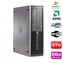PC HP Compaq 6005 Pro SFF AMD 3GHz 8Go DDR3 2To SATA Graveur WIFI Win 7 Pro