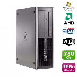 PC HP Compaq 6005 Pro SFF AMD 3GHz 16Go DDR3 750Go SATA Graveur WIFI Win 7 Pro
