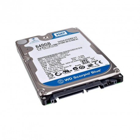 "Disque Dur 640Go SATA 2.5"" WESTERN DIGITAL Scorpio Blue WD6400BEVT PC Portable"