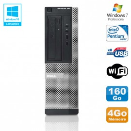 PC DELL Optiplex 390 DT G630 2.7Ghz 4Go 160Go Graveur DVD WIFI HDMI Win 7 Pro
