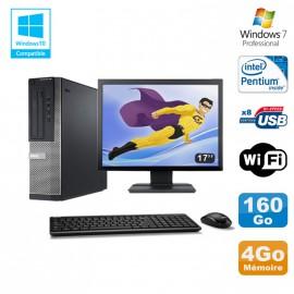 Lot PC DELL Optiplex 390 DT G630 2.7Ghz 4Go 160Go Graveur WIFI W7 Pro + Ecran 17