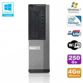 PC DELL Optiplex 390 DT G630 2.7Ghz 4Go 250Go Graveur DVD WIFI HDMI Win 7 Pro