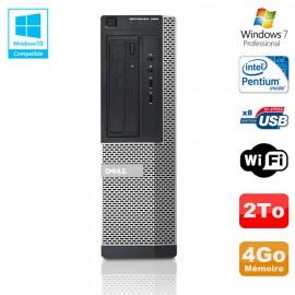 PC DELL Optiplex 390 DT G630 2.7Ghz 4Go 2To Graveur DVD WIFI HDMI Win 7 Pro