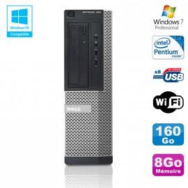 PC DELL Optiplex 390 DT G630 2.7Ghz 8Go 160Go Graveur DVD WIFI HDMI Win 7 Pro