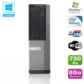 PC DELL Optiplex 390 DT G630 2.7Ghz 8Go 750Go Graveur DVD WIFI HDMI Win 7 Pro