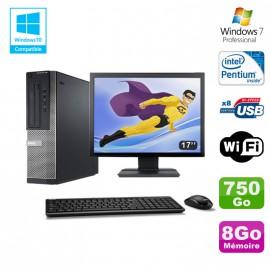 Lot PC DELL Optiplex 390 DT G630 2.7Ghz 8Go 750Go Graveur WIFI W7 Pro + Ecran 17