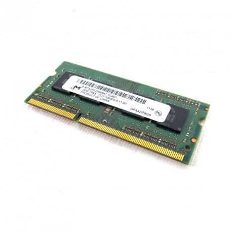 2Go RAM PC Portable SODIMM DDR3 PC3-10600S Micron Tech MT8JSF25664HZ-1G4D1 CL9