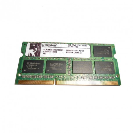 2Go RAM PC Portable SODIMM Kingston ACR256X64D3S1066C7 DDR3 8500S 1066MHz CL7