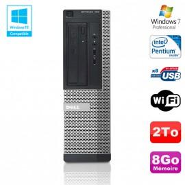 PC DELL Optiplex 390 DT G630 2.7Ghz 8Go 2To Graveur DVD WIFI HDMI Win 7 Pro