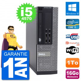 PC Dell 9020 SFF Intel Core i5-4570 RAM 16Go Disque Dur 1To Windows 10 Wifi
