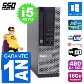 PC Dell OptiPlex 9020 SFF Intel Core i5-4570 RAM 16Go SSD 480Go Windows 10 Wifi