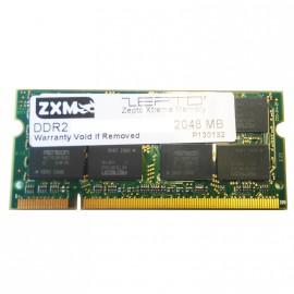 2Go RAM PC Portable SODIMM ZXM Zepto Extreme Memory DDR2 PC2-6400S 800MHz CL6