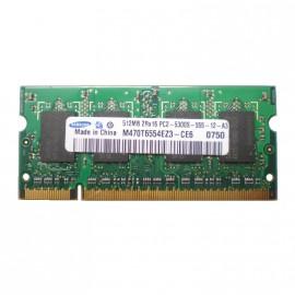 512Mo RAM PC Portable SODIMM SAMSUNG M470T6554EZ3-CE6 DDR2 PC2-5300S 667MHz CL5