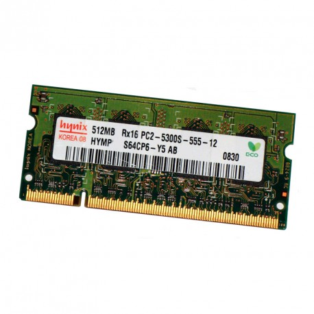 512Mo RAM PC Portable SODIMM HYNIX HYMP564S64CP6-Y5 AB DDR2 PC2-5300S 667MHz CL5