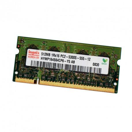 512Mo RAM PC Portable SODIMM HYNIX HYMP164S64CP6-Y5 AB DDR2 PC2-5300S 667MHz CL5