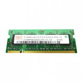 512Mo RAM PC Portable SODIMM HYNIX HYMP564S64CP6-Y5 DDR2 PC2-5300S 667MHz CL5