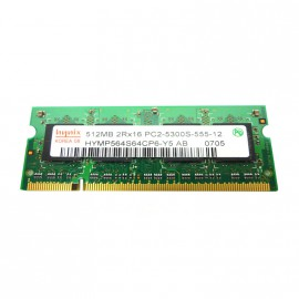 512Mo RAM PC Portable SODIMM HYNIX HYMP564S64CP6-Y5 DDR2 PC2-5300S 667MHz CL5