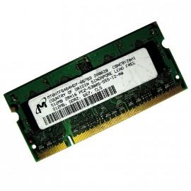 512Mo RAM PC Portable SODIMM MICRON MT8HTF6464HDY-667B3 DDR2 PC2-5300S 667MHz