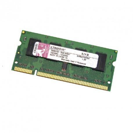512Mo RAM PC Portable SODIMM KINGSTON KVR667D2S5-512 DDR2 PC2-5300S 667MHz CL5