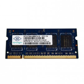 512Mo RAM PC Portable SODIMM NANYA NT512T64UH8B0FN-3C DDR2 PC2-5300S 667MHz CL5